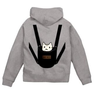 猫専用リュック Zip Hoodies