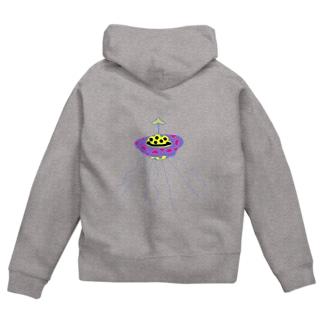 UFO Zip Hoodies