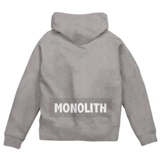 MONOLITH(モノリス)グッズ Zip Hoodies