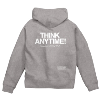 THINK ANY TIME! WHITEINK Zip Hoodies