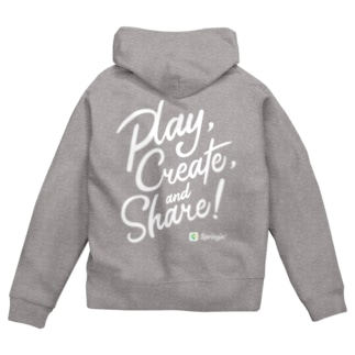 Springin' 「Play, Create, and Share!」 Zip Hoodies