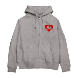 LOVE 86 Zip Hoodies