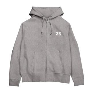 メタ構文変数(白) Zip Hoodies