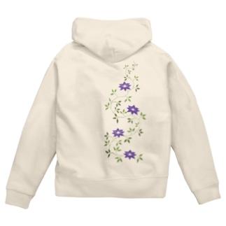 鉄扇の花 Zip Hoodies