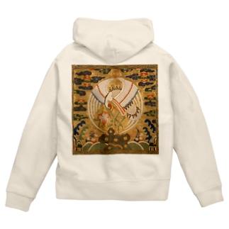 METの補子Tシャツ1-文官一品(仙鶴) Zip Hoodies