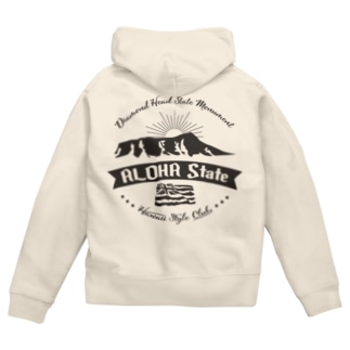 HONOLULU VOLCANO Zip Hoodies