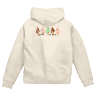 softcream カラフル Zip Hoodies