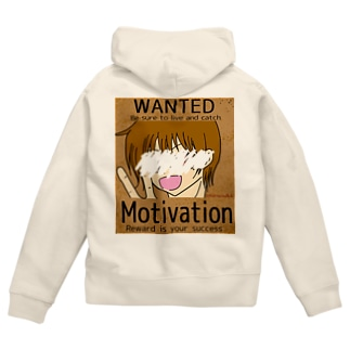 WANTED Motivation Zip Hoodies