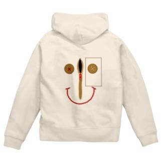 sewing smile Zip Hoodies