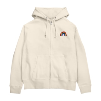 one point Rainbow Zip Hoodies