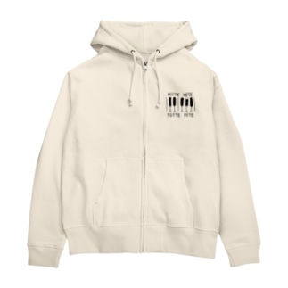 HIITE-YOTTE(黒固定) Zip Hoodies