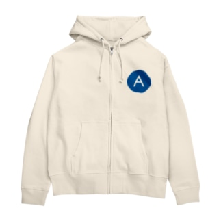Agreeバッチ Zip Hoodies