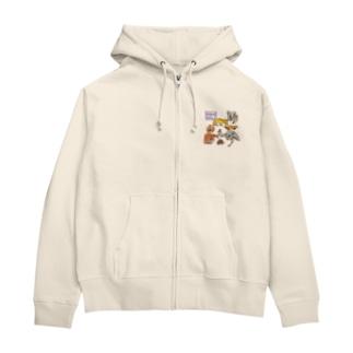 オーストラリアアニマル(500円募金) Zip Hoodies