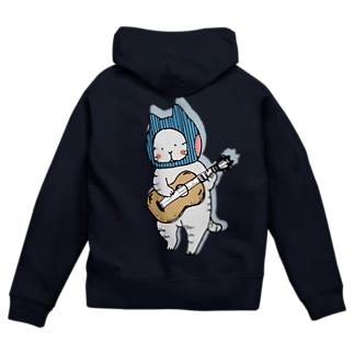 ギターねこ Zip Hoodies