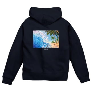 The blue wave Zip Hoodies