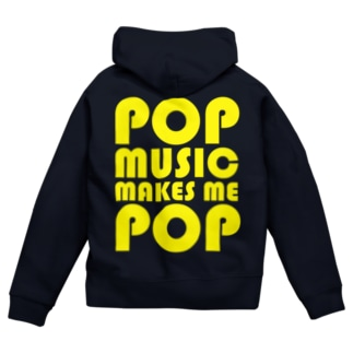 POP MUSIC(YELLOW) Zip Hoodies