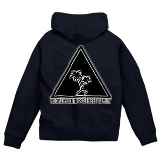 REGALIA triangle LOGO Zip Hoodies