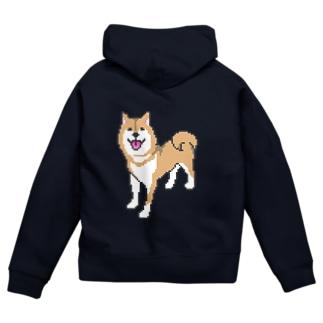 柴犬DOT Zip Hoodies