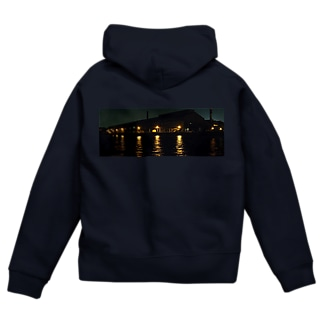運河の夜 Zip Hoodies