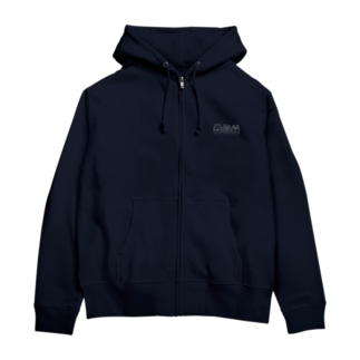 Hipporaccowl(ヒポラカウル)白 Zip Hoodies