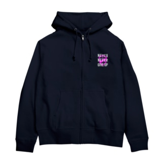 JENCO 2019AW_NEVER NEVER GIVEUP Zip Hoodies