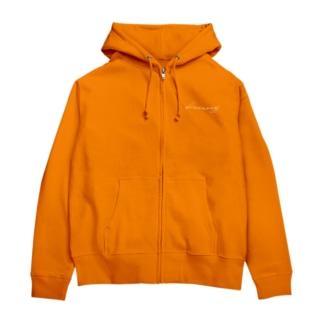 keememejパーカーオレンジ Zip Hoodies