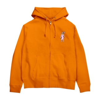 夢現の水玉兎type.b Zip Hoodies