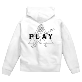 PLAY GIRL/白ボディ推奨 Zip Hoodies