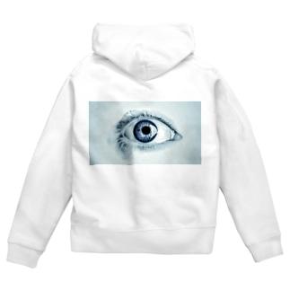 eye Zip Hoodies