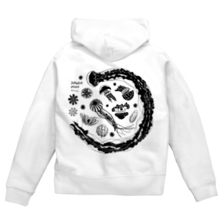 Jellyfish planet(クラゲの惑星) Zip Hoodies