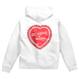 BE MINE valentine red Zip Hoodies