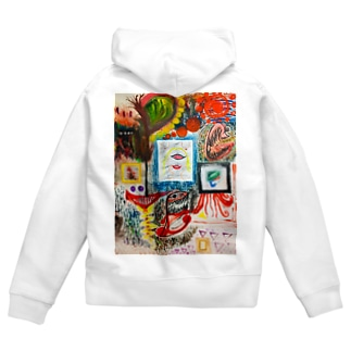 Chaos_Graffiti Zip Hoodies