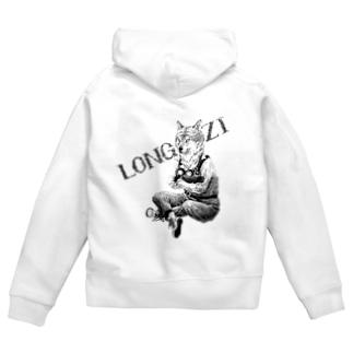 longzi & mitsü  Zip Hoodie