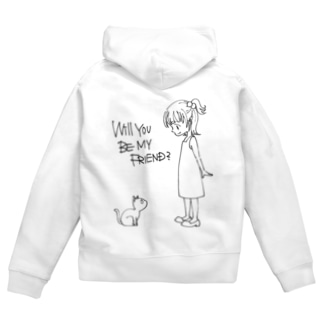 WILL YOU BE MY FRIEND? Zip Hoodies