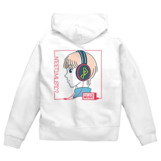 NEED_MUSIC? Zip Hoodies