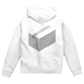 cardboard-box-mono Zip Hoodies