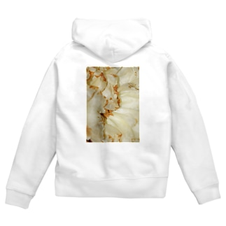 White Flower2 Zip Hoodies