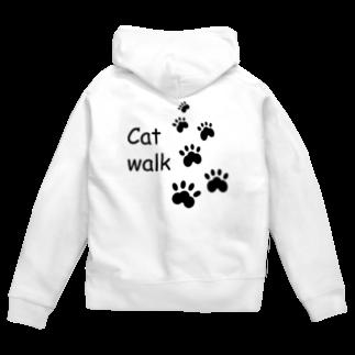 しる猫☆ミ雑貨店のCat walk Zip Hoodies