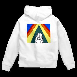 human faceの虹の中のドライブ Zip Hoodies