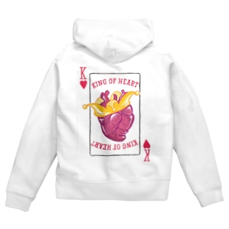 cornのKing of heart Zip Hoodies