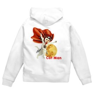 CAT MAN Zip Hoodies