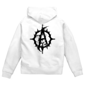 Agony(ワンポイントロゴ) Zip Hoodies