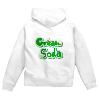 cream  soda Zip Hoodies