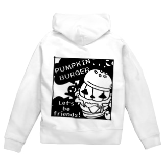 Gz かぼちゃバーガーD Zip Hoodies