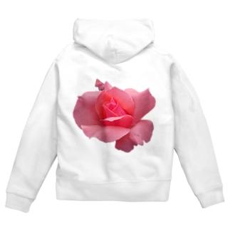The Rose (Half-blooming) Zip Hoodies