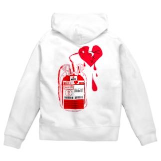 愛情献血 Zip Hoodies