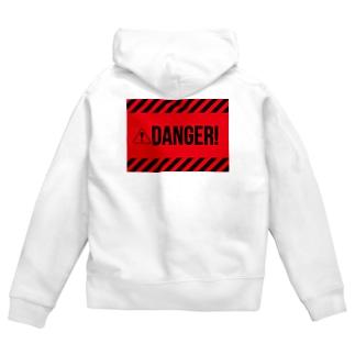 DANGER Zip Hoodies