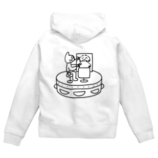 Cut cat Zip Hoodies