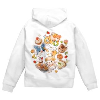 SOFTFLOWER~お菓子作り~ Zip Hoodies