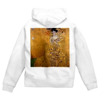 グスタフ・クリムト(Gustav Klimt) / 『アデーレ・ブロッホ=バウアーの肖像 I』(1907年) Zip Hoodie